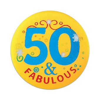 50 & Fabuloso botón de satén (Pack de 6)
