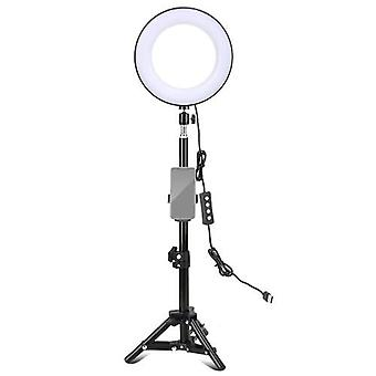 ZOMEI 8 Inch Desktop LED Ring Light 3 Lighting Modes Dimmable USB Powered