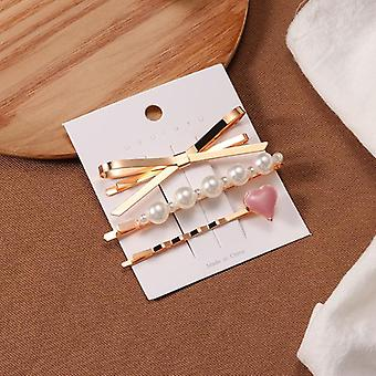 Pearl Hair Clip, Female Jewelry Hairpin Accessories, Stick Barrettes