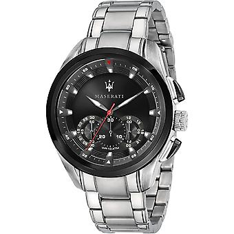Maserati R8873612015 Men's Traguardo Chronograph Steel Bracelet Wristwatch