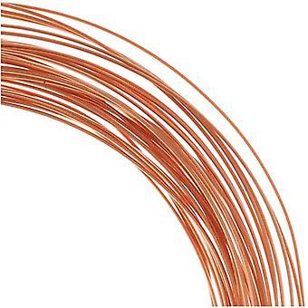 The Beadsmith Non-Tarnish Copper Half Round Craft Bead Wire 21Ga (21Ft)