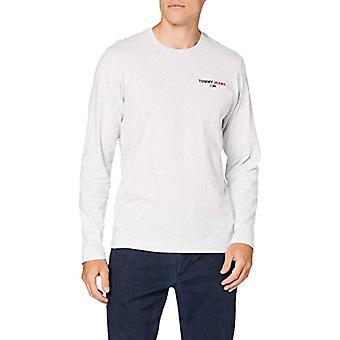 Tommy Jeans Tjm Longsleeve Corp Tee Shirt, Silver Grey Htr, L Man