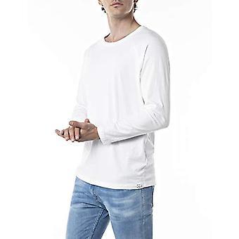 REPLAY M3351 T-Shirt, 001 White, L Man