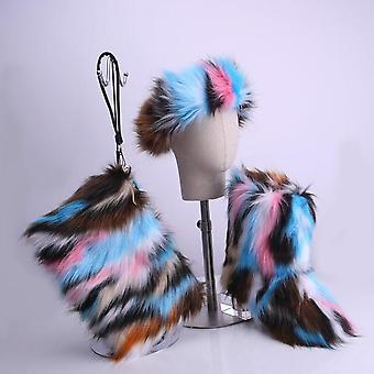 Women Fur Fluffy Faux Fur Botas