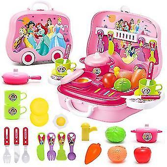 ピンクの女の子のためのメイクを少し女の子王女のメイクアップセットx1817