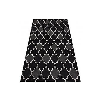 سجاد SIZAL FLOORLUX 20607 المغربي تريليس الأسود / الفضي