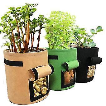 S 25d * 30h בדים ירוקים לא ארוגים לטיפוח צמחים ושקיות שתילת ירקות, דליים לשתילת גינה az3295