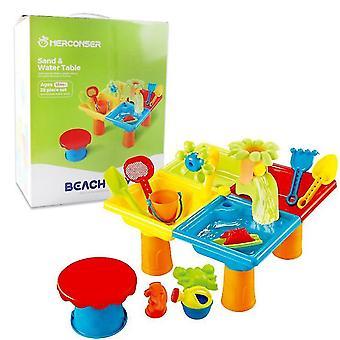 25Pcs praia infantil durável mesa quadrada de mesa sbox jogo jogo set dt4947