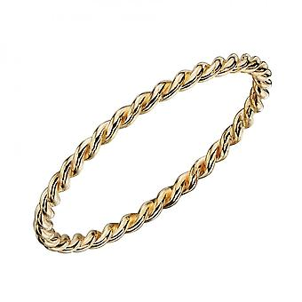 Elements Gold Twisted Band Yellow Gold Ring GR587