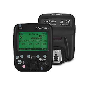 2.4G kamerás vaku trigger speedlite vezeték nélküli adó LCD képernyővel