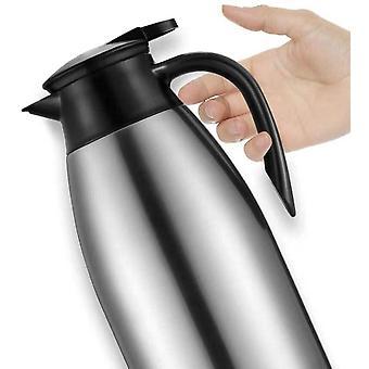HanFei 2 Liter Edelstahl Isolierkanne Kaffeekanne Teekanne Doppelwandig Isoliert Vakuum Tee und