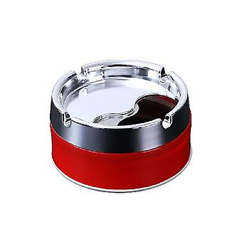 Household Detachable Rotatable Lid 360 Degree Free Rotation Stainless Steel Corrosion Resistance Portable Cigarette Ashtray