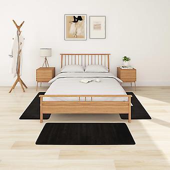 vidaXL høy haug seng matte 3 stk. svart