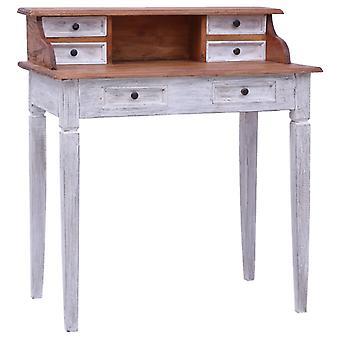 vidaXL bureau avec tiroirs 90x50x101 cm massif de bois usagé