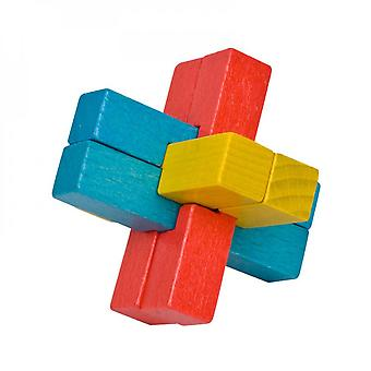 Six Cubical Pieces Luban Lock Puzzle