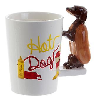 3d Dachshund Copa Cerâmica Tridimensional Animal Puppy Cup