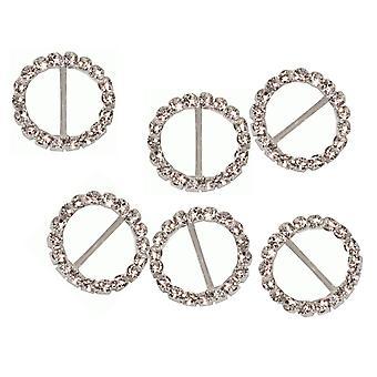 6 liten runde diamante bånd spenne glidebryteren