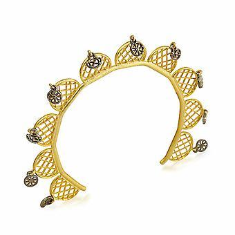 Biggdesign Sun Course Bracelet féminin, laiton plaqué or, bracelet en laiton, motif solaire Détails du cours