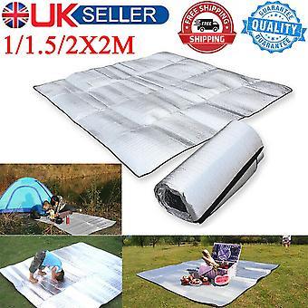 (2M * 2M) 2X2M Matelas de couchage imperméable à l'eau Aluminium Papier d'aluminium Jardin de pique-nique de camping extérieur