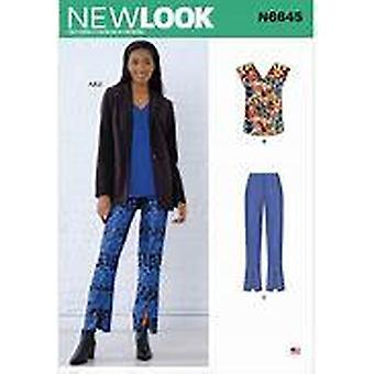 New Look Sewing Pattern 6645 Misses Top and Pant Size 10-22 Euro 36-48