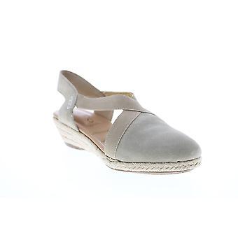 Me Too Adult Womens Nissa Closed Toe Elastic Wedge Wedges Heels