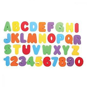 Numeri di lettere da bagno, 36 pezzi di schiuma vasca da bagno giocattoli