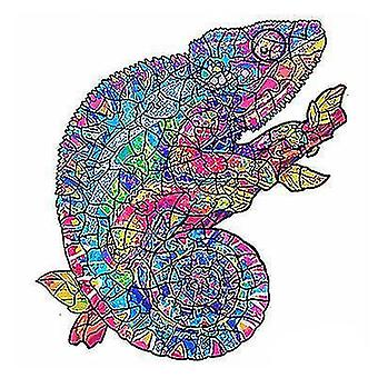 chameleon Wooden Jigsaw Puzzle Piece Game for Kids and Adults(A4)