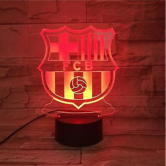 Fc Barcelona Usb 3d Anime Night Light Atmosphere Led Table Lamp