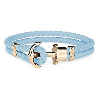 Unisex Bracelet Paul Hewitt PH-PH-L-G-NI Blue Leather/18-19 cm