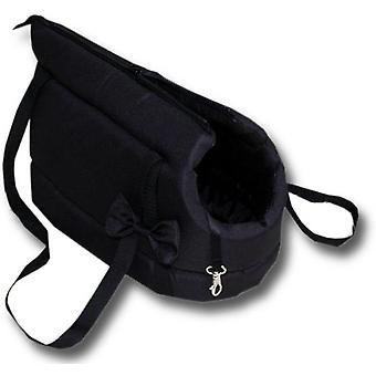 Bolsa de transporte para perros - perros pequeños - bolsa de transporte para perros - negro - 36x19x23 cm - elegante - bolsa bandolera