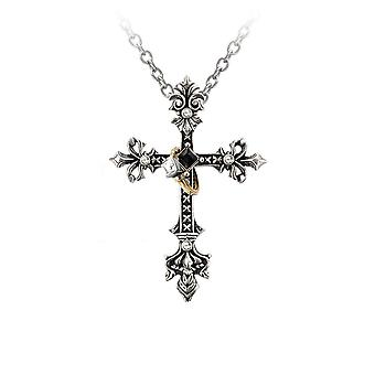 Alchemy Gothic Maryam Theotokos Ring Cross hanger