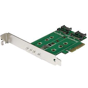 Carte PCI SSD M.2 Startech PEXM2SAT32N1 PCIe 3.0