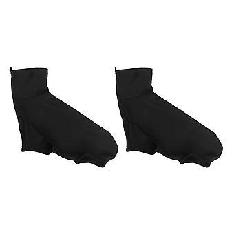 Fahrradschuhe Cover Männer Frauen Anti-Rutsch Sichere Reitausrüstung komfortable Outdoor-Sport-Schuh-Abdeckung (schwarz)