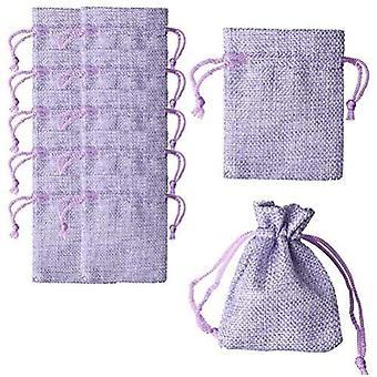 Torby na prezenty 20 sztuk Fioletowe torby z płótna ze sznurkiem Torby na prezenty