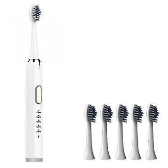 Venalisa Adulto Cepillo de dientes eléctrico Usb Recargable Ultra Sónico Lavable Relajante Potente Cepillo de dientes eléctrico de 5 velocidades