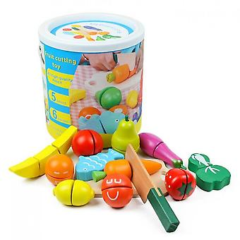 Sofirn Fruit And Vegetables Kitchen Food For Pretend Cutting Food Toys, Educational Toy
