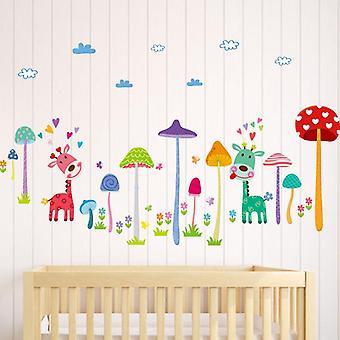 Cartoon Mushroom Tree Naklejki ścienne Salon Home Decor Tapety
