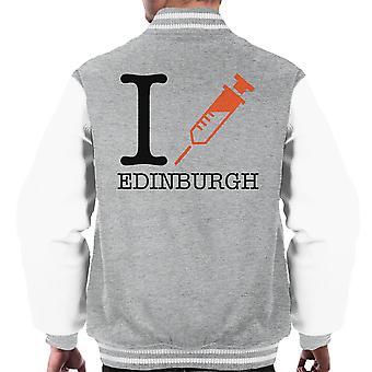 Trainspotting T2 I Heart Edinburgh férfi ' s Varsity Jacket