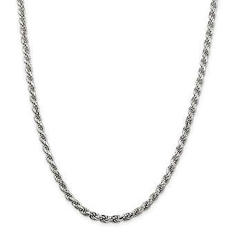 925 στερλίνα ασημένια στερεό στιλβωμένο σπίθα περικοπή Αστακός κλείσιμο 4.25 mm D κομμένα σχοινιού αλυσίδα αστράγαλος 9 ιντσών Αστακός νύχι J