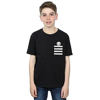 Looney Tunes Boys Tweety Pie Striped Faux Pocket T-Shirt