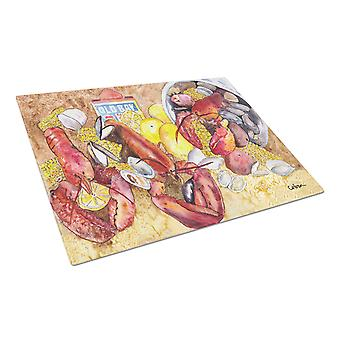 Carolines Treasures  8719LCB Lobster  Glass Cutting Board Large