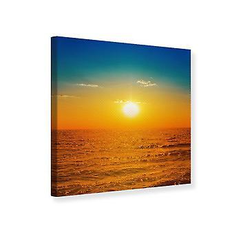 Canvas afdrukken de zee bij zonsondergang