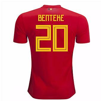 2018-2019 Belgien Adidas hem skjorta (Benteke 20)