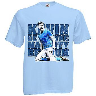 Kevin De Bruyne Manchester City T-Shirt (Sky) - Kinder