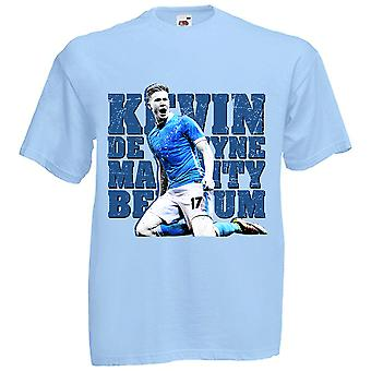 Kevin De Bruyne Man City T-Shirt (Sky) - Kids