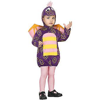 Baby kostuums paarse baby draak kostuum