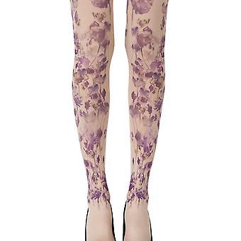 Zohara ZOF424-POMC Women's Garden Party Powder Skin Fashion Tights