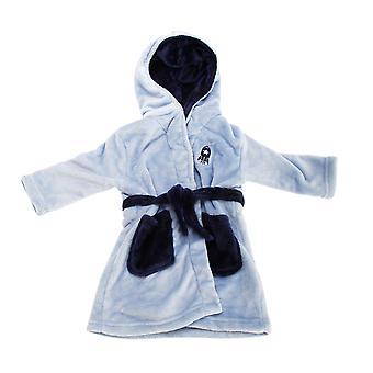 Childrens/Boys Hooded Supersoft Rocket Design Dressing Gown