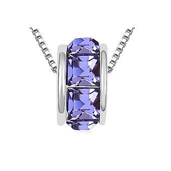 Collier Anneau orné de cristaux de Swarovski Violet 4635