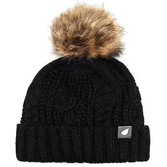 New Peter Storm Women's Daisy Bobble Hat Black